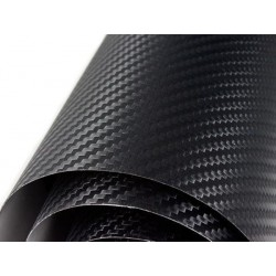 Vinil fibra de carbono preto Normal - 200x152cm (telhado completo)