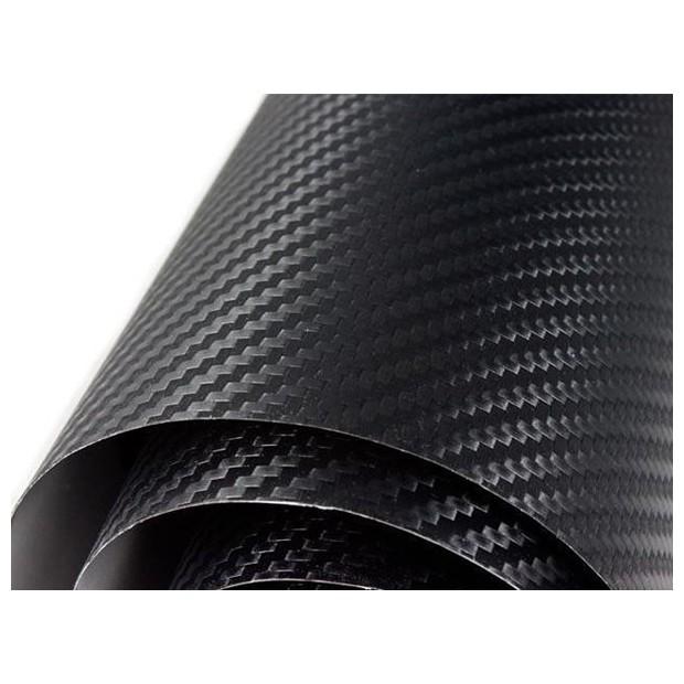 Vinyle Noir en Fibre de Carbone Normal - 200x152cm (Toit complet)