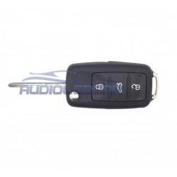 Logement pour clé Volkswagen 3 boutons (2009-2014)