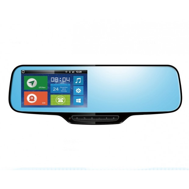Rearview mirror Android: locator GPS + navi + bluetooth + camera