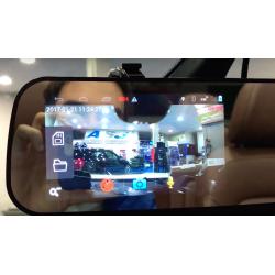 Retrovisor Android: localizador GPS + navi + bluetooth + câmara