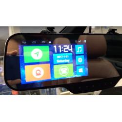 Specchio retrovisore Android: localizzatore GPS + navi + bluetooth + fotocamera
