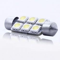 ZesfOr® Bombilla LED C5W 39 mm, 6 SMD Brillant - TIPO 6