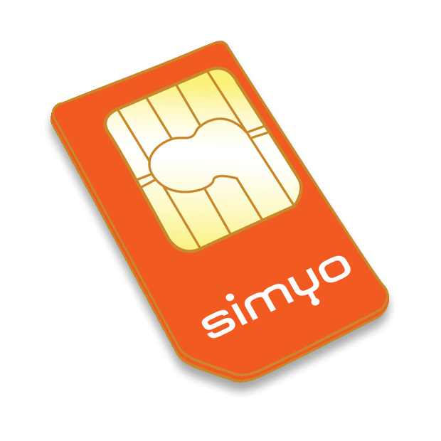 SIM card for GPS locator with 10€ of credit (contract or prepaid without stay)