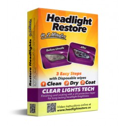 Wipes of restoration of headlights