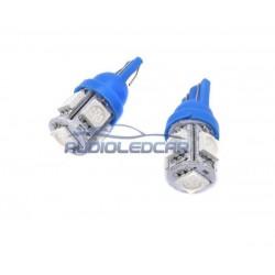 ALC® Bombilla LED AZUL w5w / t10 - TIPO 27