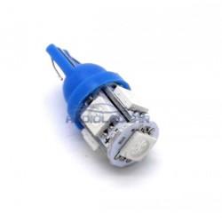 Lâmpada LED azul w5w / t10 - tipo 27
