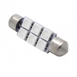 Bulbo claro do diodo EMISSOR de luz AZUL c5w / festoon 36, 39, 41 milímetros - TIPO 28