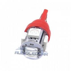 Lampadina LED ROSSO w5w / t10 - TIPO 29