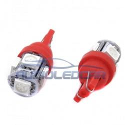 ALC® Bombilla LED ROJO w5w / t10 - TIPO 29
