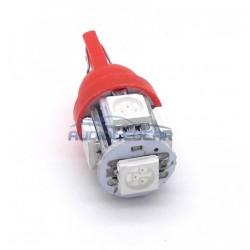 Light bulb LED red w5w / t10 - type 29
