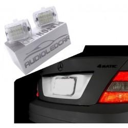 Candeeiros de matrícula diodo EMISSOR de luz Mercedes-Benz Classe C W204 (2008-2014)