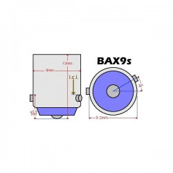 ZesfOr® Bombilla LED CANBUS h6w / bax9s - TIPO 2