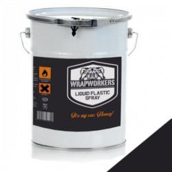 La pittura di vinile liquido Nero Opaco (4 litri)