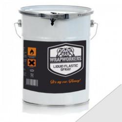 La peinture de vinyle liquide Mat-Blanc (4 litres)