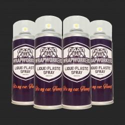 Vernice gomma: 4 spray NERO OPACO