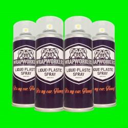 Pintura para llantas: 4 spray VERDE NEON