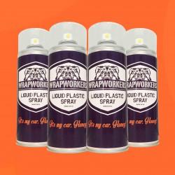 Vernice gomma: 4 spray ARANCIONE MATE