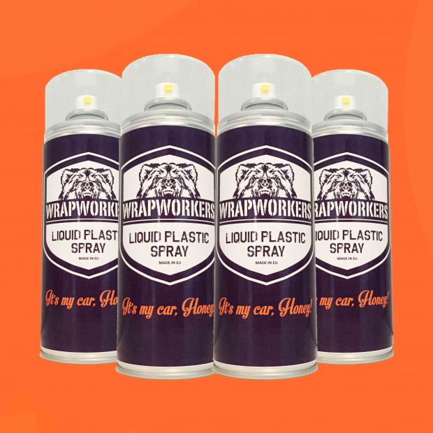 La peinture de pneus: 4 spray ORANGE MATE