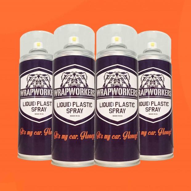 Pintura para jantes: 4 spray LARANJA FOSCO