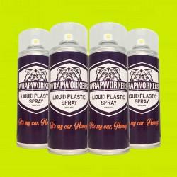 La peinture de pneus: 4 spray JAUNE NÉON