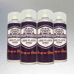 Pintura para llantas: 4 spray PLATA METALIZADO