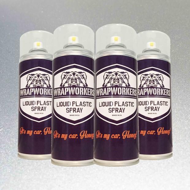 La peinture de pneus: 4 pulvérisation ARGENT MÉTALLIQUE
