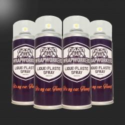 Vernice gomma: 4 spray NERO LUCIDO