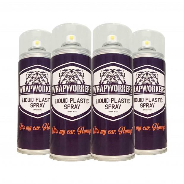 Paint tire: 4 spray MATTE WHITE