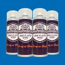 Vernice gomma: 4 spray BLU OPACO