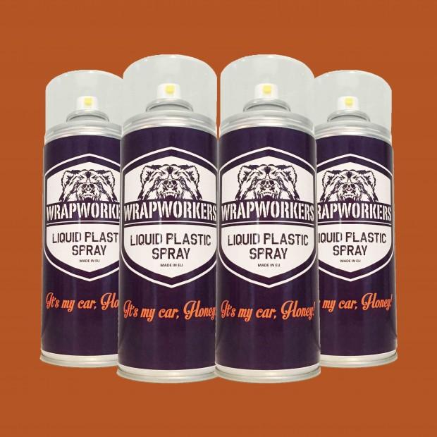 Vernice gomma: 4 spray ROSSO OPACO