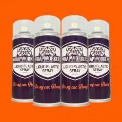 Vernice gomma: 4 spray ARANCIONE NEON