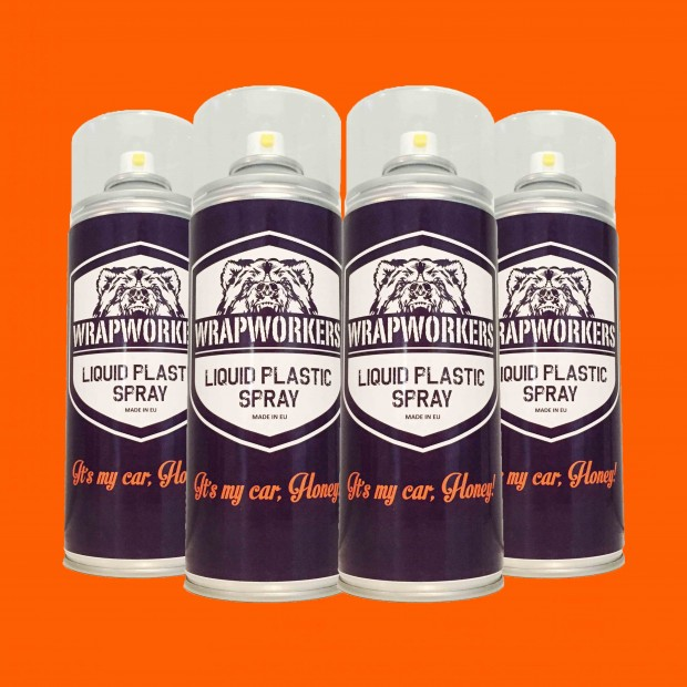 La peinture de pneus: 4 spray ORANGE NÉON