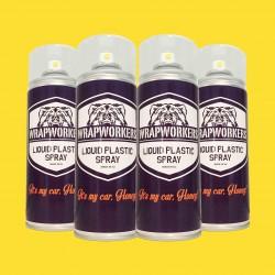 La peinture de pneus: 4 spray MAT JAUNE