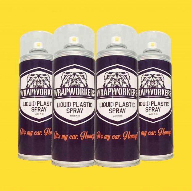Paint tire: 4 spray MATTE YELLOW