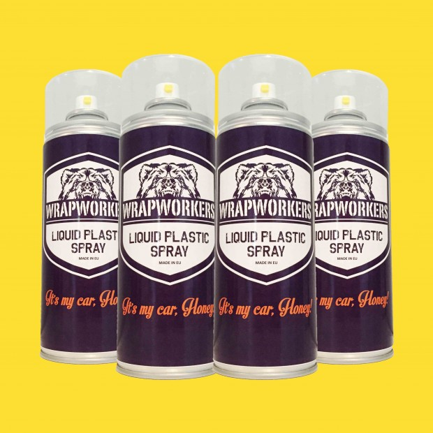 Pintura para llantas: 4 spray AMARILLO MATE