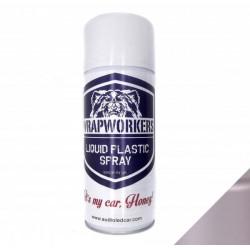 La peinture de jet de vinyle, d'ALUMINIUM liquide MÉTALLIQUE de la marque WrapWorkers