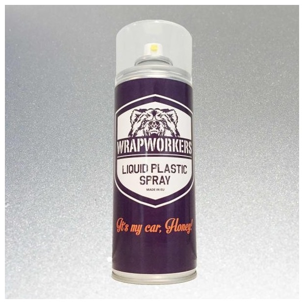 Pintura en Spray de vinilo líquido ALUMINIO METALIZADO marca WrapWorkers