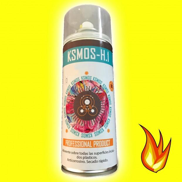 Spray de pintura anticalórica para coche y moto AMARILLA (brillo)