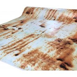 Vinile effetto Ruggine con sfondo bianco 100x152 cm
