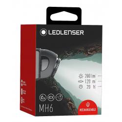 Linterna de cabeza Led Lenser MH6, 200 Lúmenes y Recargable