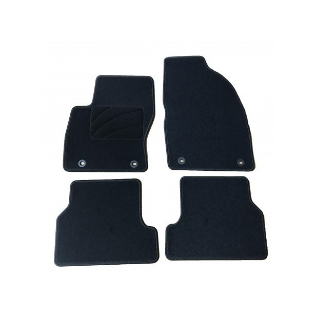 Perfect Fit Heavy Duty Black Rubber Car Mats for Ford Focus Mk1 98-05 /& Fixings