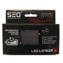 Batería de recambio para frontales SEO de Led Lenser