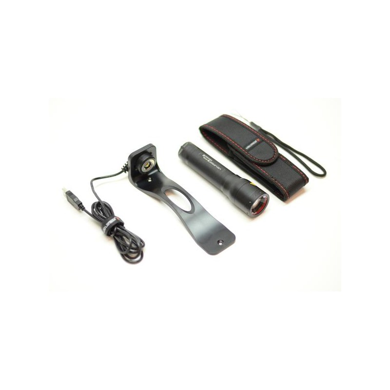 lampe de poche led lenser p7r 1000 lumens rechargeable audioledcar. Black Bedroom Furniture Sets. Home Design Ideas