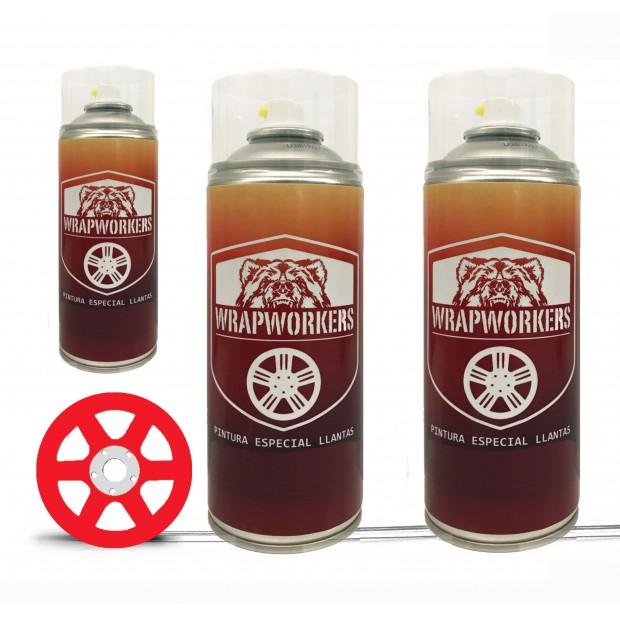 Kit Parede Jantes vermelho (Brilho ou Fosco) - WrapWorkers