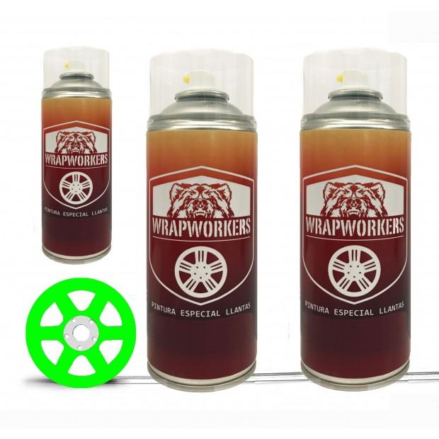 Kit verniciato i cerchi verde fluo (lucido o opaco) - WrapWorkers