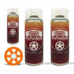 Kit verniciato i cerchi arancio fluoruro (lucido o opaco) - WrapWorkers