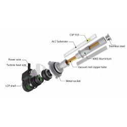 Kit bi-diodo EMISSOR de luz branco diamante H4 - ZesfOr