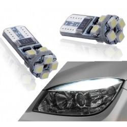 Pareja de bombillas LED canbus para posición delantera w5w / t10
