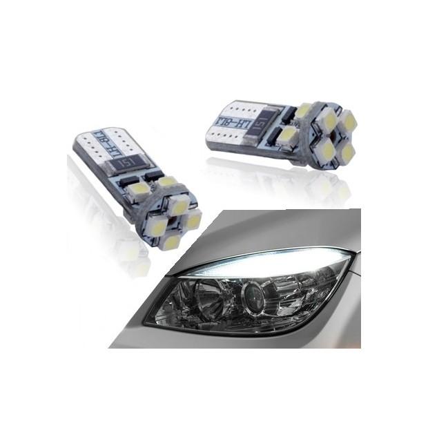 Coppia di lampadine a LED canbus per la parte anteriore di posizione w5w / t10
